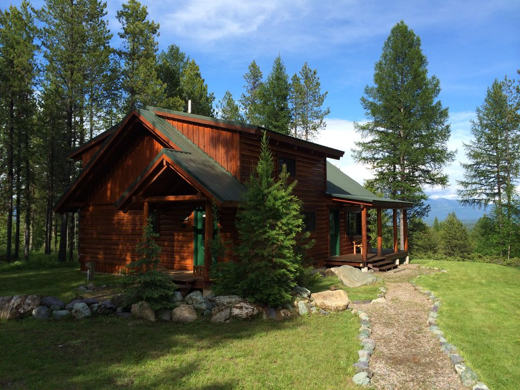Log cabin in the woods where the wild animals roam 2 br vacation cabin for rent in whitefish - Small log houses dream vacations wild ...