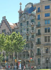 Casa Batllo by Gaudi on Passeig de Gracia is just a 5 min walk away