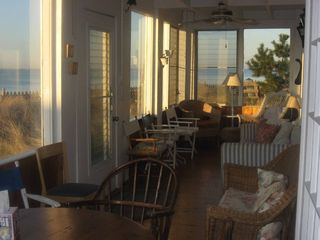 Seaview house photo - Downstairs porch, late afternoon.