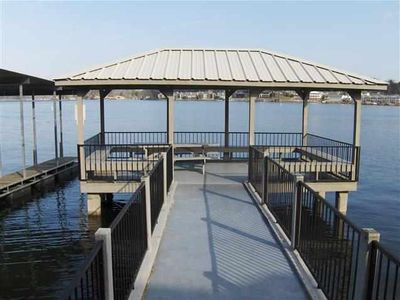 Hot Springs condo rental - Pavilion on Lake for cocktails, coffee, picnics, etc...