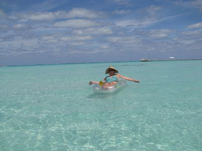 Grand Cayman condo rental - Spend your days in the warm clear sea