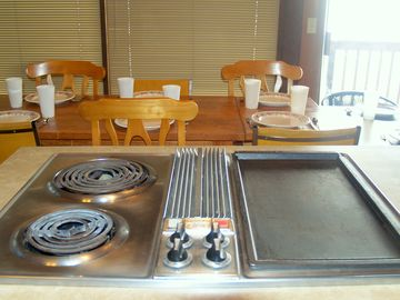 (New photo needed)We now have a larger Jen Air cooktop with SIX burners