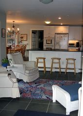 Westhampton Beach house photo - New eat-in kitchen family room with flat screen TV