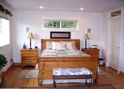 The Master Bedroom is very roomy and boasts a Queen Sleigh Bed