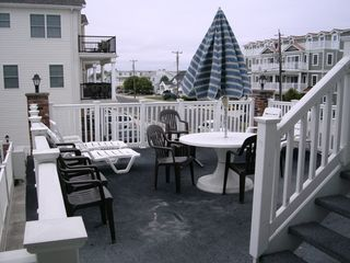 North Wildwood condo photo - 2nd Floor Deck overlooking pool