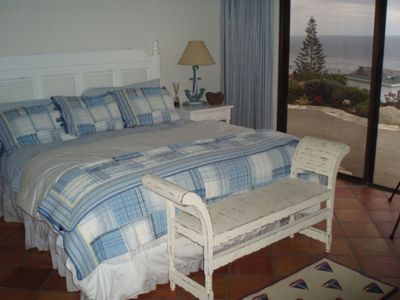 Monarch Beach house rental - Master bedroom with view out sliding door and two closets