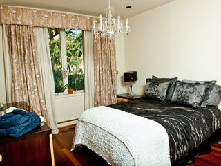 Philadelphia house photo - Guest room with custom drapery.