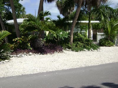 Front view of Beach Escape showing entrance on the right side of picture