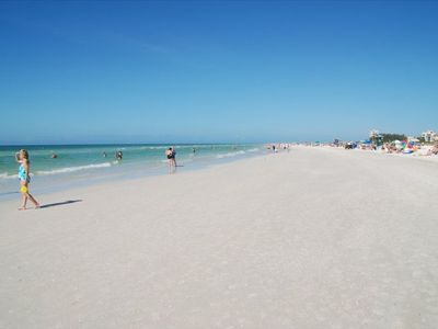 Siesta Key Public Beach across the street from Crescent Royale
