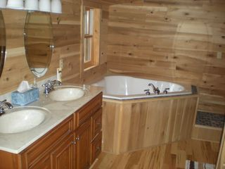 Nancy cabin photo - Master bedroom bath,this bathroom also has a full-size shower stall