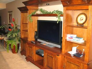 Home Entertainment Center with HDTV