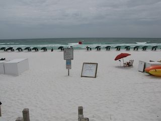 Fort Walton Beach condo photo - Waterscape's private beach area.