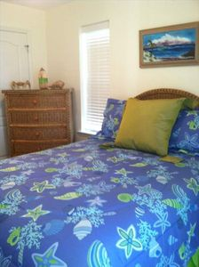 Second Bedroom features queen size bed, walk-in closet, and a private balcony.