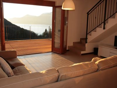 Luino house rental - Villa Caruso view to terrace