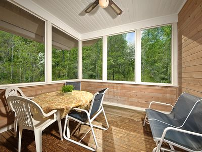 2d floor screened porch off kitchen/dining area. Lovely views