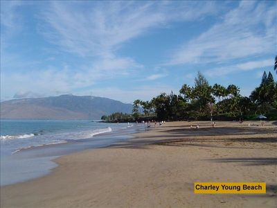 Kihei condo rental - Famous Charley Young Beach (Kameole 1) is just 50 yards to the left.