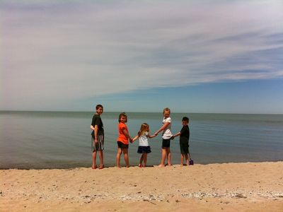 Enjoy the shores of Lake Erie from the large private beach at Lake Erie Vista!