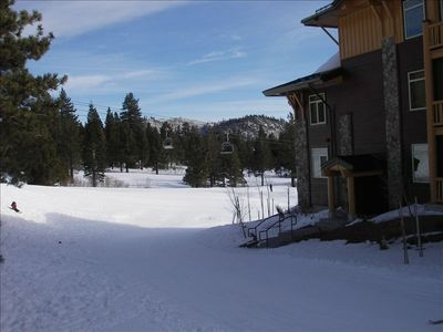 Ski down the slopes to Eagle Lodge