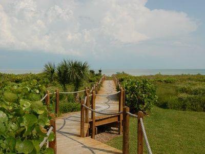 Private Boardwalk to the Gulf of Mexico. Foot wash on your way in too!