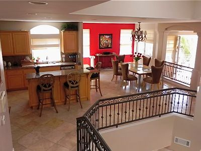 Formal dining and a huge kitchen with a breakfast counter!