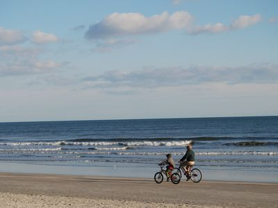 Biking on Sunset Beach in January