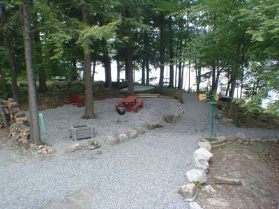 Picnic and campfire Area overlooking Lake