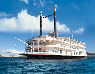 Enjoy a spectacular dinner cruise on the Showboat Branson Belle