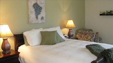 Just one of the cozy and comfortable bedrooms!