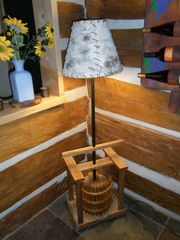 Thousand Islands cabin photo - Apple cider press lamp