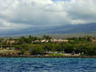 A view of the complex just offshore from the Kihei Boat Ramp