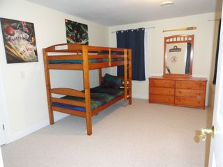 Laconia house photo - Bedroom 4: Honey pine twin over twin bunk (trundle under bed added after photo)