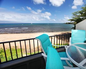 Kahana condo photo - This is what Oceanfront/Beachfront truly means!