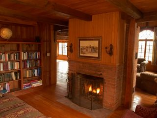 Landaff estate photo - 1st floor library with fire place