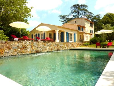 La Garde Freinet farmhouse rental - View from the Pool House