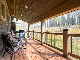 Baldy Mountain Breckenridge house photo - Large Deck with Mountain Views
