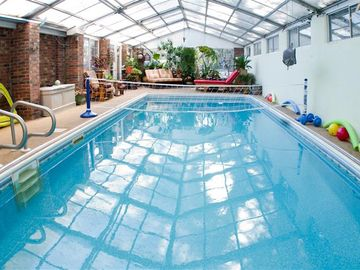 Asheville house rental - Dive into your own indoor pool!