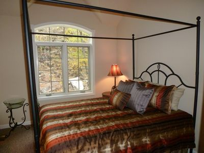 Upper Lebel Bedroom Queen with Rock Glacier View.