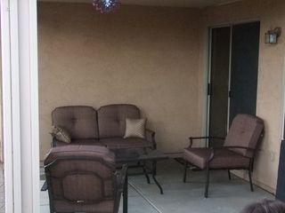 San Tan Valley house photo - Covered Patio with Propane Bbq and 4 piece conversation patio set