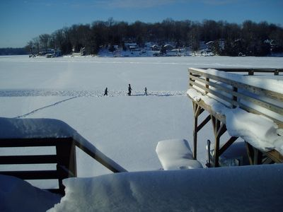 View of lake snow