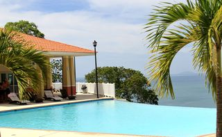 Aguadilla condo photo - View Desecheo Island from the infinity swimming pool