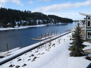 Coeur d 'Alene condo photo - Balcony view in winter- 4 ski areas close by
