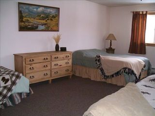 Lake George house photo - Second bedroom sleeps 5 people with a dresser and large closet