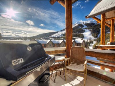 Amazing direct views of Lone Peak from deck with outdoor seating and gas grill