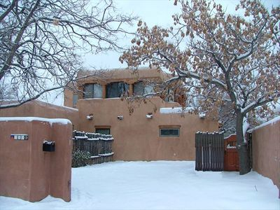 Winters in Santa Fe means skiing, cozy fires, and the Faralito Walk