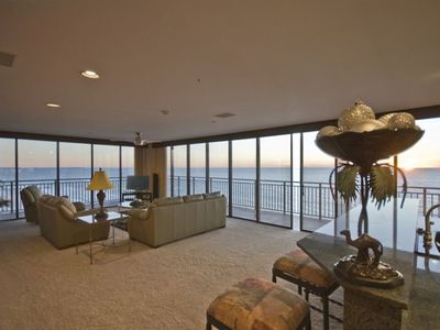 Panoramic Ocean View! Condo sits on a Peninsula of land surrounded by the Gulf!