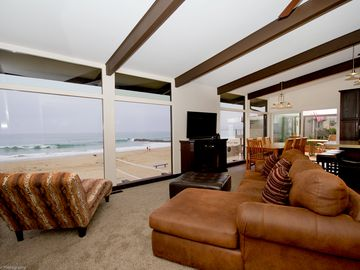 Ventura house rental - Watch the Boats, Surf, Beach, Dolphins, Whales, Birds from the Living Room/Kitch