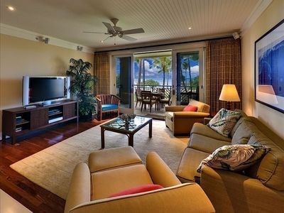 Large Living Room and Lanai Beach and Ocean View
