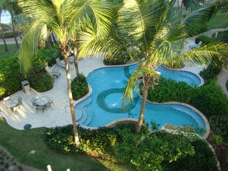 Humacao condo photo - View of Dragon Pool and ocean from Balcony of Condo.
