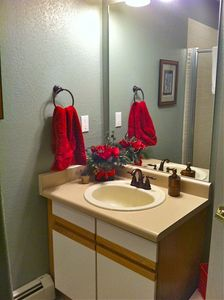 3/4 bath with shower on Family room level.