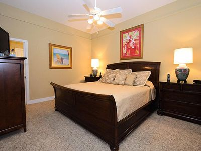 "Master-on-the-main features a king-size suite, 32"" HDTV/DVD & desk alcove!"